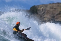 Kayak surfer Scott Ligare: 1st place Manufacturer\'s Rodeo.