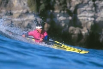 Kayak surfer Ben Thomas: 2nd place Men\'s High Performance.