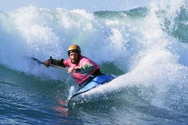 Kayak surfer Jeff Burlingham: Third place Men\'s High Performance.