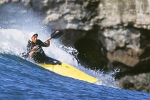 Kayak surfer Vince Shay: 1st place Men\'s High Performance