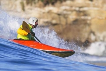 Kayak surfer Ken King: 2001 World Champion Ken King. 2nd place Men\'s International Classic.