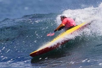 Kayak surfer Gina Troiani: 1st place Women\'s High Performance.