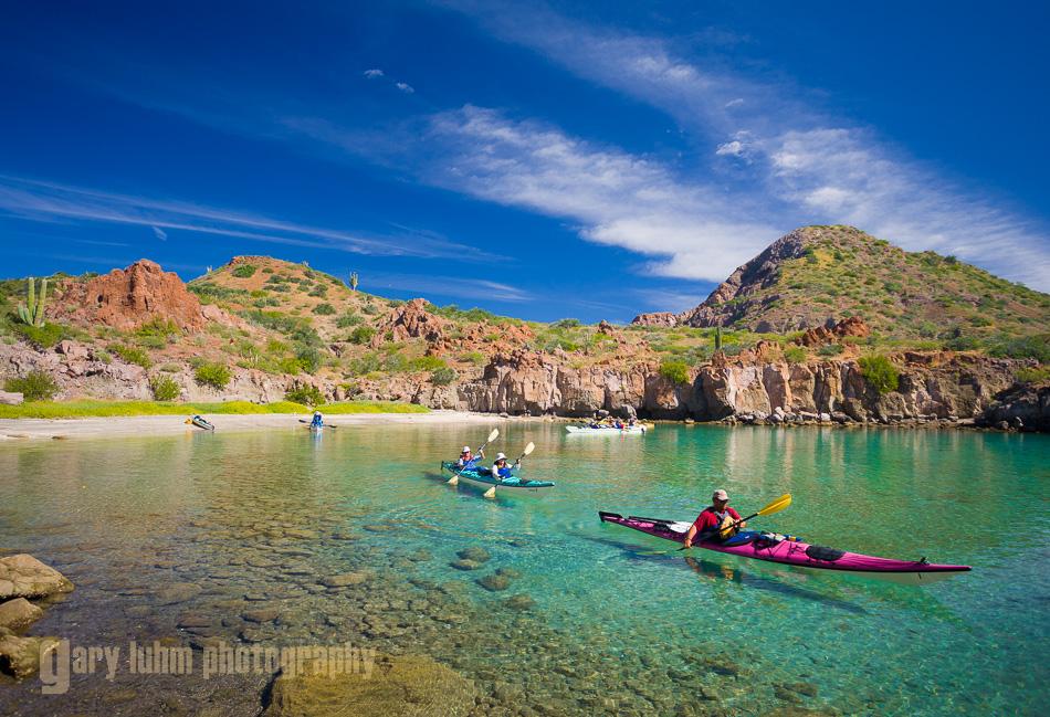 Sea Kayakers in Honeymoon Cove, Danzante Island.