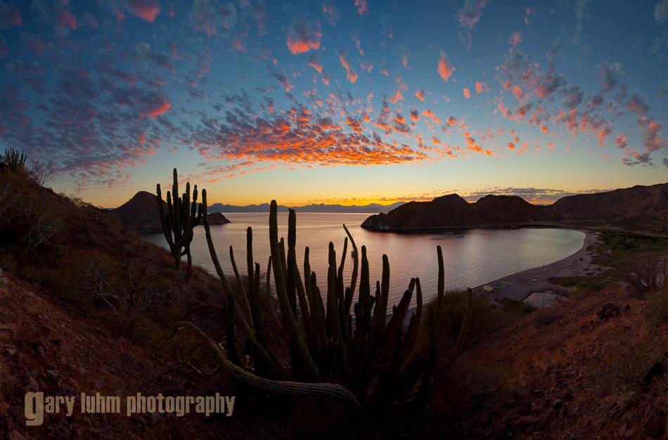 Sunset, Puerto Balandra, Isla Carmen, Baja, Mexico.