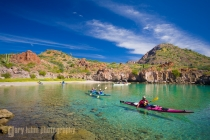 Sea Kayakers in Honeymoon Cove, Danzante Island.