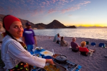 Dinner preparation, Sea Kayak Adventures, Isla Carmen, Baja, Mexico.