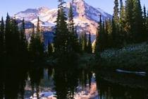 Ashel Curtis mirror pond, evening light. Canon Elan7e. 28-135mm f/4.5-5.6 IS.