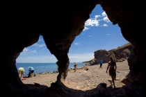 From a small cave at lunch spot, Isla Carmen east shore.