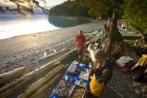 Camp at Kiakash, Johnstone Strait