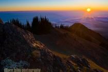 Sunrise on Blue Mt., Deer Park, Olympic National Park.