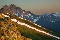 Evening light from Marmot Pass, looking toward Mt. Constance, Buckhorn WIlderness, Olympic National Forest.