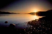 Prince William Sound. Sunrise on Prince William Sound, Alaska.