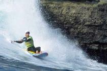Jim Grossman. On a Wave Ski.