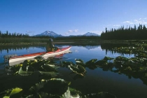 Hosmer Lake, OR. Marshy on one end, but with a clear spring on the other, Hosmer is great for fishing and birding.
