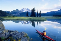 Sparks Lake. A Ray Atkeson favorite, with South Sister and Broken Top backdrop, photogenic Sparks Lake, Oregon.