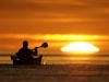 Sunrise. Paddling into the sunrise, Sea of Cortez.