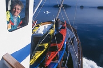 Ursa Major underway. Motoring across a glassy sea, Frederick Sound, Alaska.