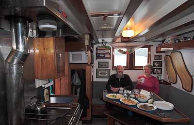 Home Shore Galley: Capt. Jim Kyle, guest and breakfast