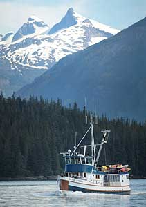 Home Shore in Thomas Bay, Alaska.