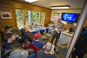 Orientation at the Glacier Bay NP visitor center at Bartlett Cove.