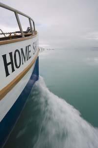 Home Shore underway in Tarr Inlet, Glacier Bay National Park, AK.