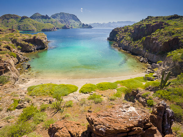 On-line image research resulted in this find, Honeymoon Cove on Isla Danzante.