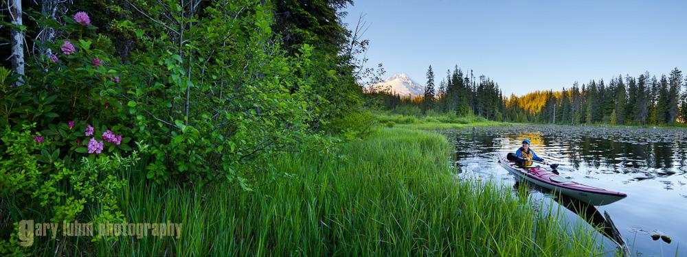 Trillium Lake, Oregon Canon 5D II, 17mm f/4L @20mm, f/9, 1/40sec, iso250.