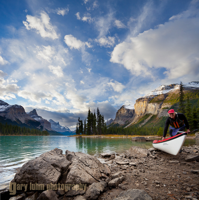 Spirit Island, Maligne Lake, Jasper National Park Canon 5D II, 17-40mm f/4L @ 17mm, @f/8, 1/80 and 1/320sec, iso200.