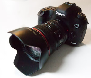 Canon 5D III and Rikonon 24mm f/1.4.