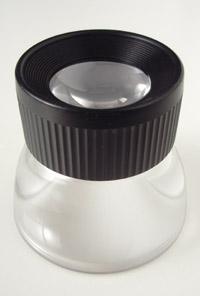 A small loupe is handy to get the most accurate focus on the LCD screen.