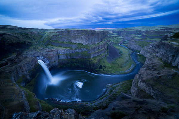 HDR capture of Palouse Falls via LIghtroom. Canon 5D III with Rokinon 14mm f/2.8 at f/8.